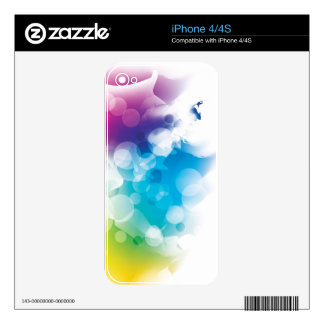 Modern Bokeh Abstract Light Decal For iPhone 4