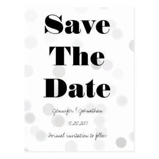 Modern bokeh save the date cards