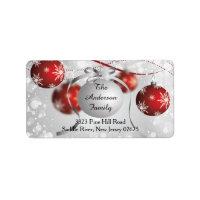 Modern Bokeh Snowflake Christmas Return Address Address Label