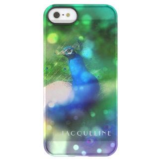 Modern Bokeh Sparkle Peacock Photo Twinkling Light Permafrost iPhone SE/5/5s Case
