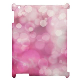 Modern Bokeh Sparkle Pink Twinkle Pattern iPad Cover