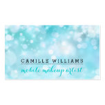 MODERN BOKEH whimsical fresh bright aqua blue Double-Sided Standard Business Cards (Pack Of 100)