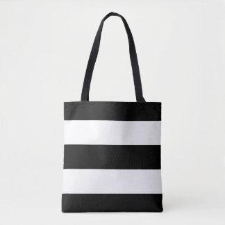 Modern Bold Black and White Stripes Tote Bag