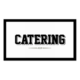 Modern Bold Border Catering Business Card