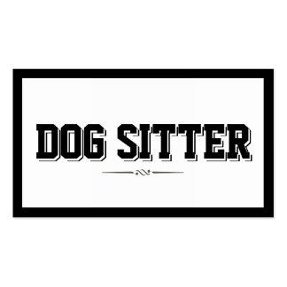 Modern Bold Border Dog Sitter Business Card