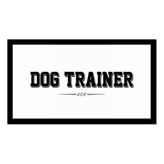 Modern Bold Border Dog Training Business Card