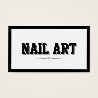 Modern Bold Border Nail Art Business Card