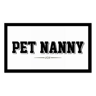 Modern Bold Border Pet Nanny Business Card