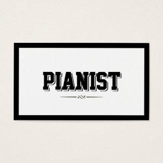 Modern Bold Border Pianist Business Card