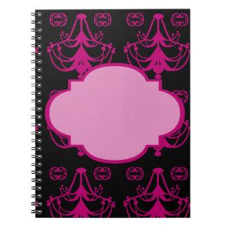 Modern Bold Chandelier Spiral Notebooks