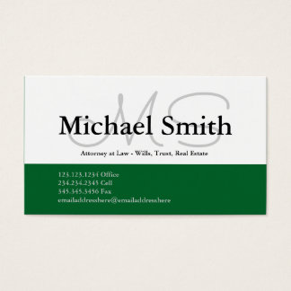 Modern Bold Color Initials - Business Card