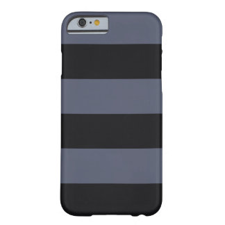 Modern Bold Dark Blue Stripes iPhone 6 Case