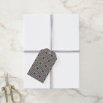 Modern Bold Diamond Pattern (Orange) Gift Tags