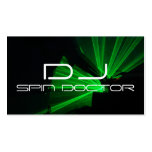 Modern Bold DJ Business Cards