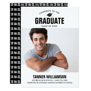 Professional Business Modern Bold Grad Photo Graduation Announcement