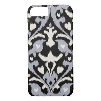 Modern bold grey black ikat tribal pattern iPhone 7 case