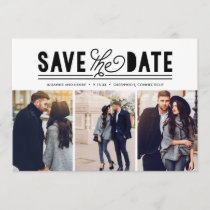 Modern Bold Love Save The Date Photo Collage