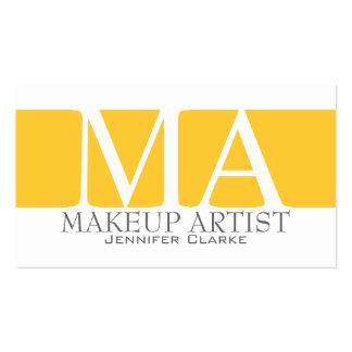 Modern Bold Makeup Artist Business Cards