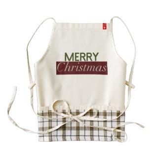 Modern & Bold Merry Christmas Holiday Apron