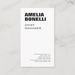Standard vertical business cards templates zazzle modern bold minimalist professional standard size business card colourmoves