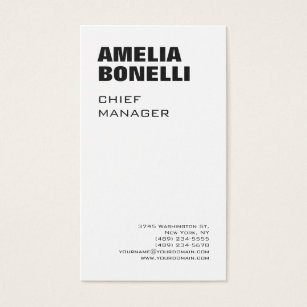 Size business cards templates zazzle modern bold minimalist professional standard size business card colourmoves