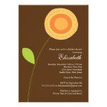Modern Bold Orange Bloom Bridal Shower Invitation