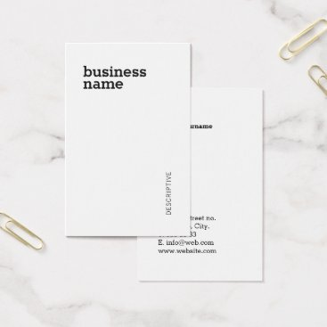 font themed Modern Bold Professional Minimalist Template Business Card