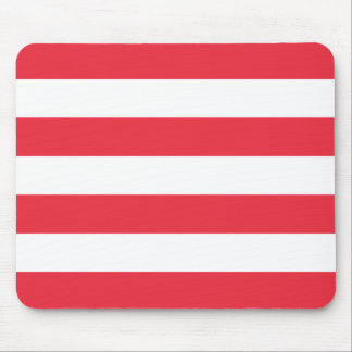 Modern Bold Red and White Stripes Mouse Pad