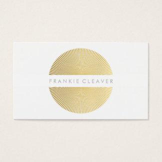 MODERN BOLD SPOT simple smart gold foil sunburst Business Card