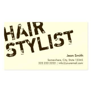 Modern Bold Text Hair Stylist Business Cards