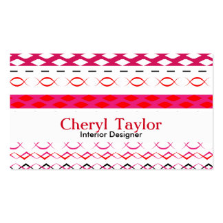 Modern Bold Tribal Print Colorful Personalized Business Card