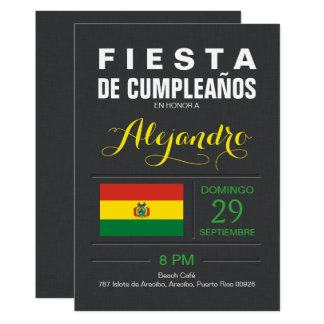 Modern: Bolivia Party Card