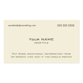Modern Bone Double-Sided Standard Business Cards (Pack Of 100)