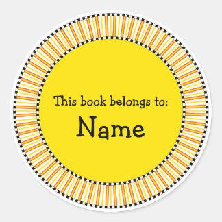 Modern bookplate design sticker