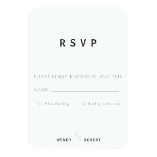 Modern Botanical Collection RSVP Card