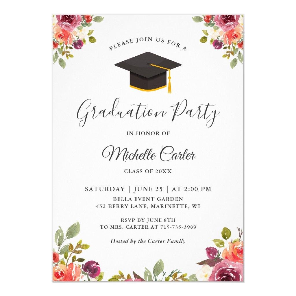 grad party announcements