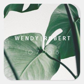 Modern Botanical Invitation Sticker