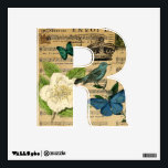 """modern botanical music notes french bird Camellia Wall Sticker<br><div class=""""desc"""">modern botanical music notes french bird Camellia accessories. Country chic home accessories.  french provincial home accessories.</div>"""