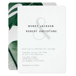 Modern Botanical Wedding Invitation