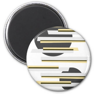 Modern boxes and circles abstract pattern magnet