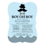 Modern Boy Oh Boy Little Man Mustache Baby Shower Personalized Invitation