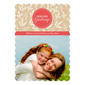 Modern Branches Holiday Photo Card