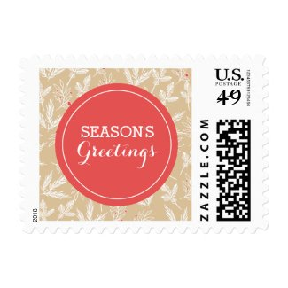 Modern Branches Holiday Postage