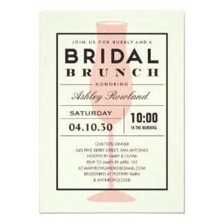 Modern Bridal Brunch Invitations