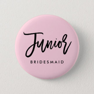 Modern Bridal Party Junior Bridesmaid Pinback Button