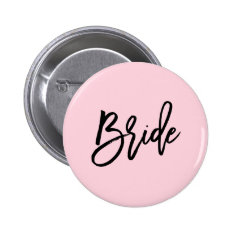 Modern Bridal Party Wedding Pinback Button at Zazzle
