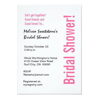 Modern Bridal Shower Black White Zebra Card
