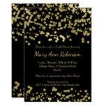 Modern Bridal Shower Gold Foil Look Confetti Card