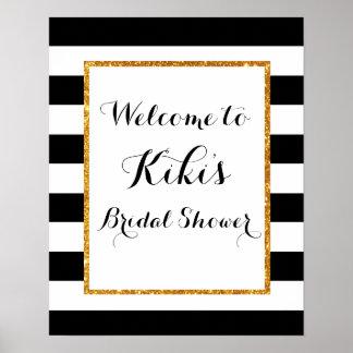 Modern bridal shower welcome sign