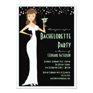 Modern Bride Bachelorette Party Invitation